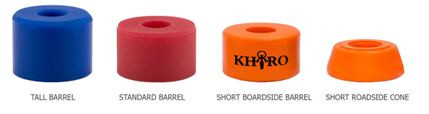 longboard bushings sizes