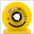 yellow longboarding wheels