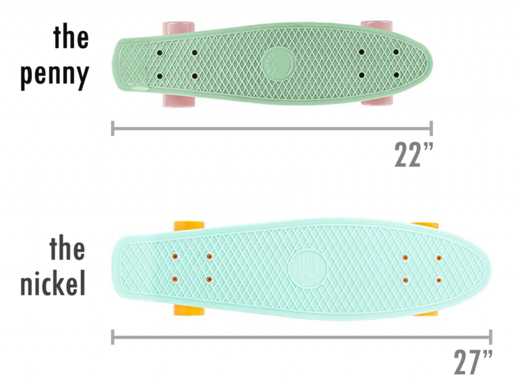 penny board and nickel board length